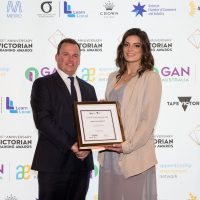 Wayne Robertson – COO, WestVic Staffing Solutions with Trainee of the Year Finalist – Amber Gabelich