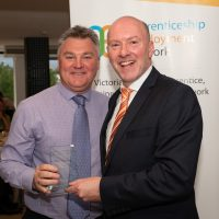 15 Year Service Award Paul Broderick with Gary Workman