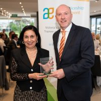 20 Year Service Award Kerry Daruwalla with Gary Workman