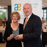 20 Year Service Award Sharon Day with Gary Workman