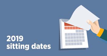 2019 Sitting Dates