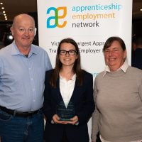 Apprentice of the Year Award Winner Katrina Palmer with Parents