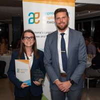Apprentice of the Year Winner Katrina Palmer with Steve Collins