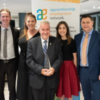 Lifetime Achievement Award Recipient Frederick Maddern with Staff