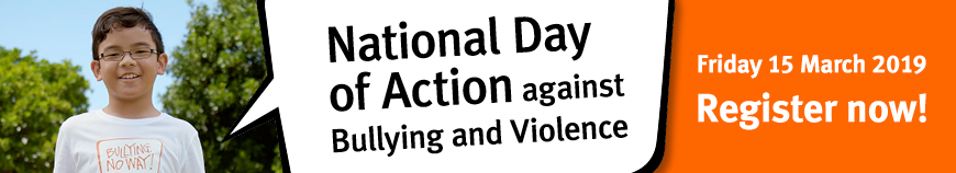 National Day of Action against Bullying and Violence Banner