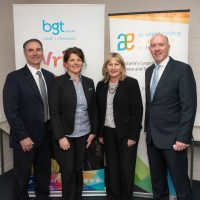 Dean Luciani, Mandy Macdonald, Hon. Minister Gayle Tierney and Gary Workman