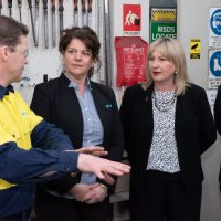 BGT Foreman with Mandy Macdonald and Minister Tierney