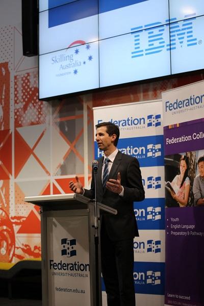 Minister Simon Birmingham Announcing P-Tech Schools