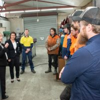 Minister Tierney with BGT with Workshop Apprentices